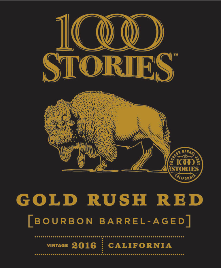 1000 Stories Bourbon Barrel Aged Gold Rush Red 2016  Front Label