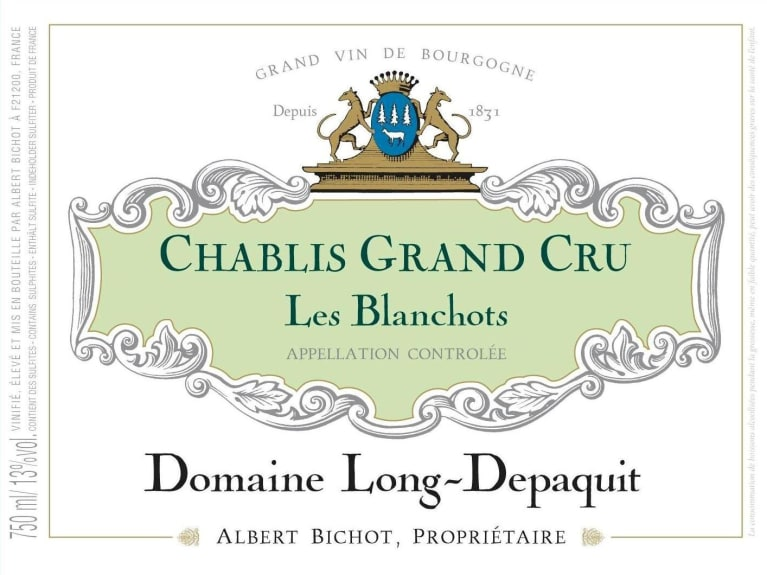 Albert Bichot Chablis Les Blanchots Domaine Long-Depaquit Grand Cru 2018  Front Label