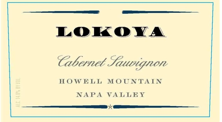 Lokoya Howell Mountain Cabernet Sauvignon 2016  Front Label