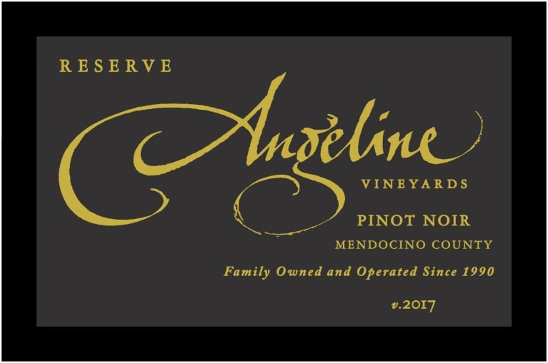Angeline Reserve Pinot Noir 2017 Front Label
