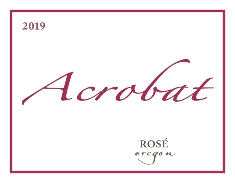 Acrobat Rose of Pinot Noir 2019  Front Label