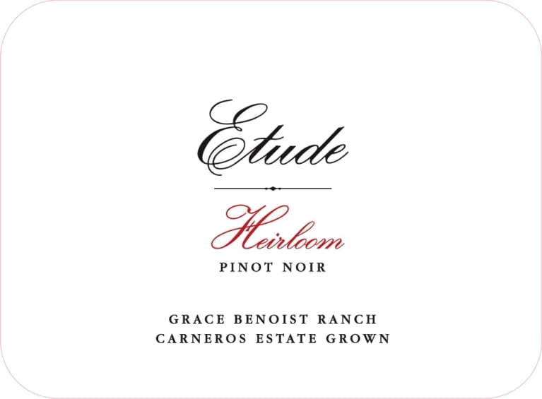 Etude Heirloom Pinot Noir 2015  Front Label