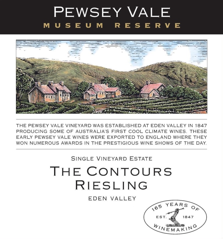 Pewsey Vale Museum Reserve The Contours Riesling 2013  Front Label