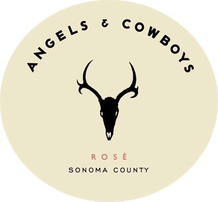 Angels & Cowboys Rose (375ml half-bottle) 2018  Front Label