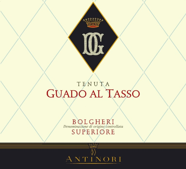 Tenuta Guado al Tasso (stained label) 1999  Front Label