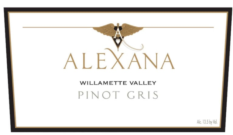 Alexana Willamette Valley Pinot Gris 2016  Front Label