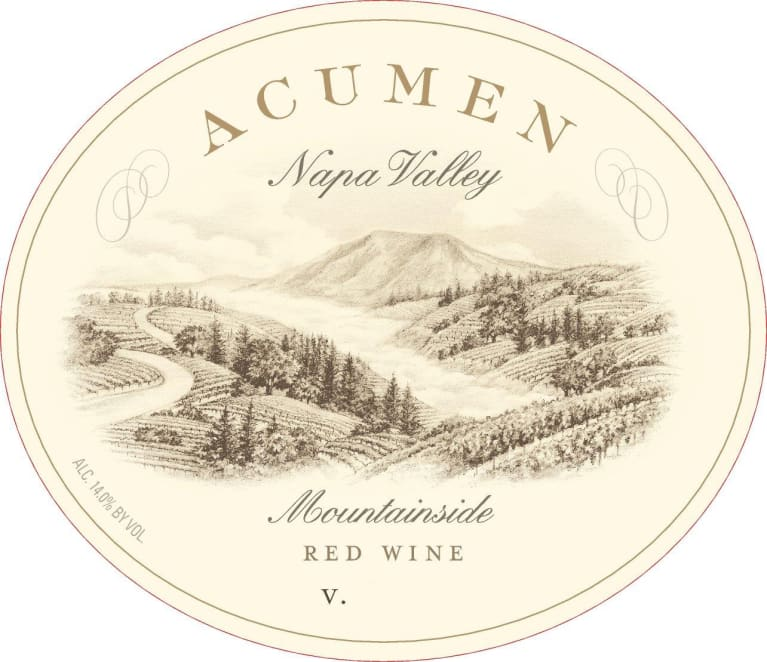 Acumen Mountainside Red 2018  Front Label