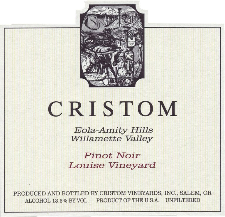 Cristom Louise Vineyard Pinot Noir 2016 Front Label