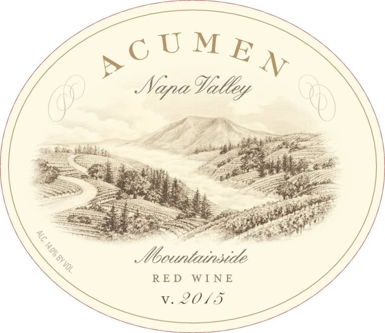 Acumen Mountainside Red 2015 Front Label