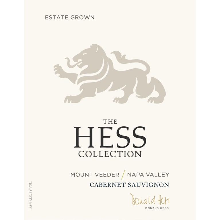 Hess Collection Mount Veeder Cabernet Sauvignon 2016  Front Label