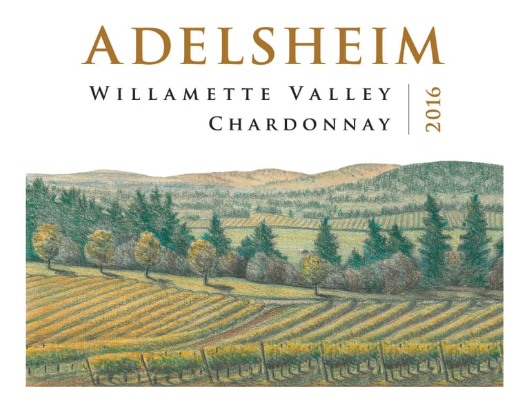 Adelsheim Willamette Valley Chardonnay 2016 Front Label
