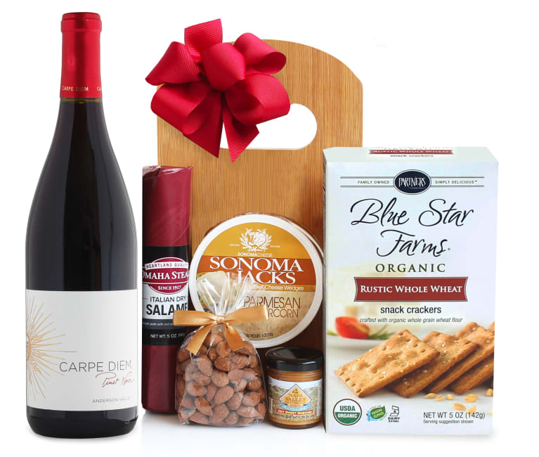 wine.com 92 Point Pinot Noir Wine & Cheese Board Gift Set  Gift Product Image