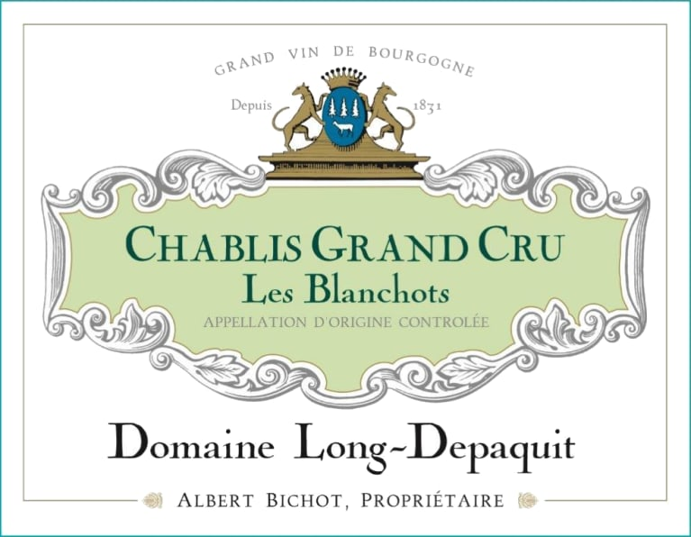 Albert Bichot Chablis Les Blanchots Domaine Long-Depaquit Grand Cru 2017  Front Label