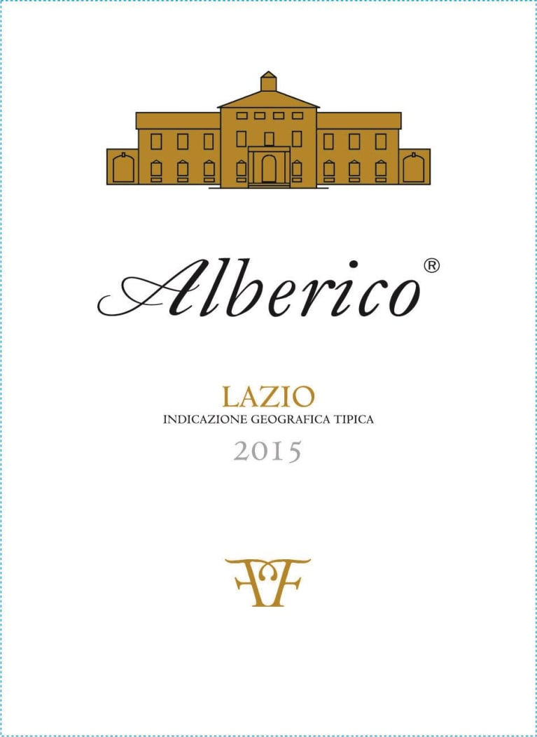 Alberico Bianco 2015  Front Label
