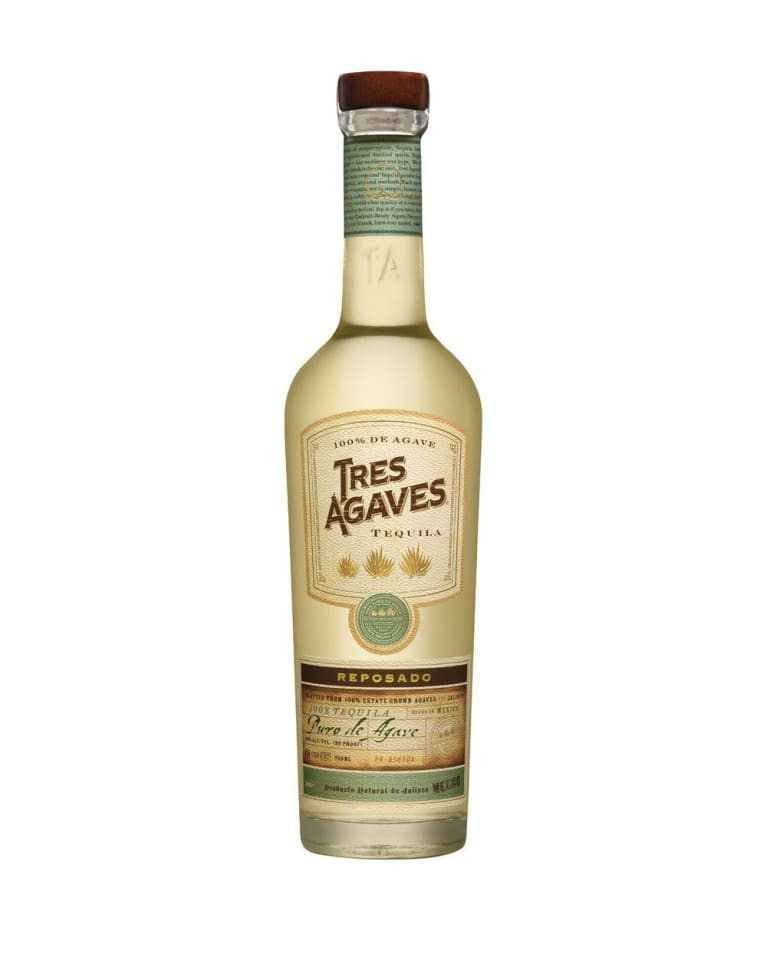 Tres Agaves Reposado Tequila Front Bottle Shot