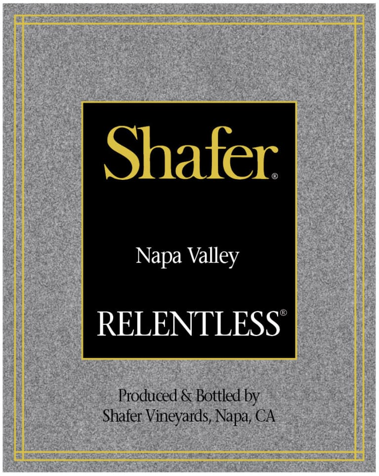 Shafer Relentless 2017  Front Label