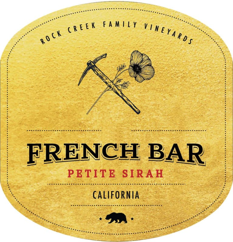 French Bar Petite Sirah 2016 Front Label