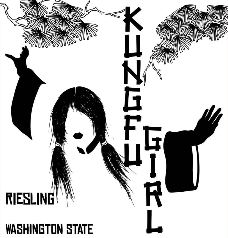 Charles Smith Wines Kung Fu Girl Riesling 2018  Front Label