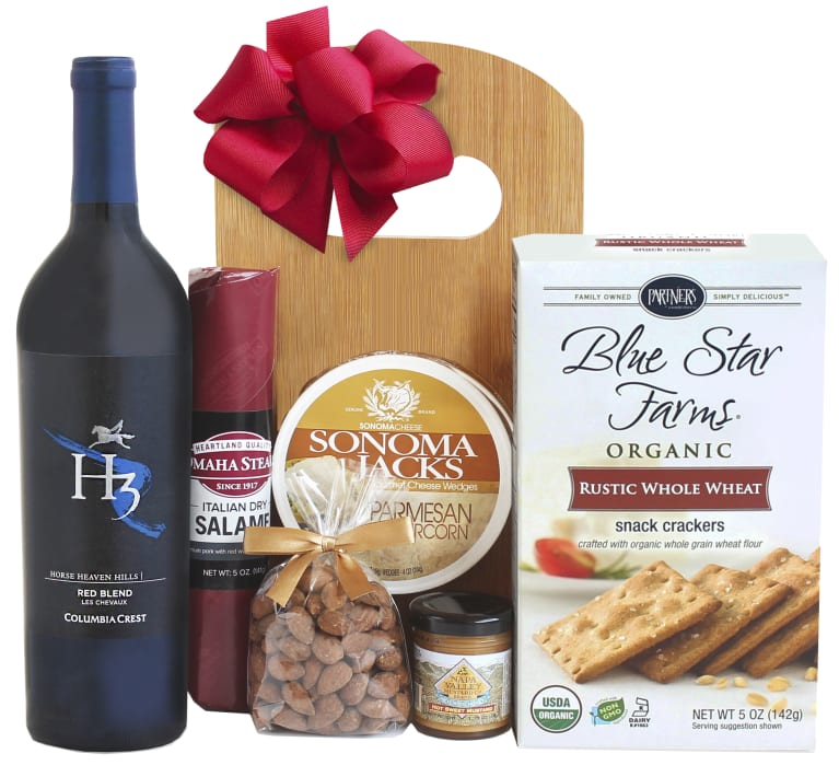 wine.com Red Wine & Cheese Board Gift Set  Gift Product Image