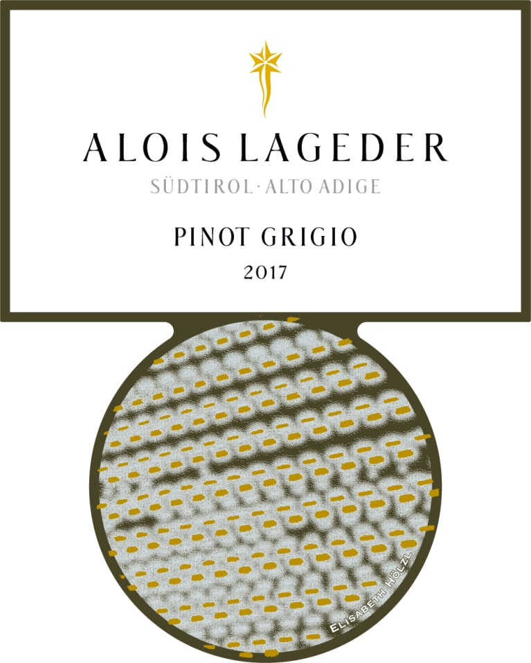 Alois Lageder Dolomitti Pinot Grigio 2017 Front Label