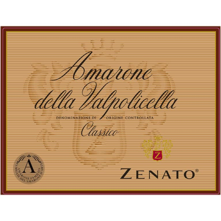 Zenato Amarone 2015  Front Label