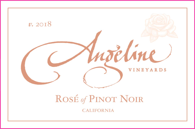 Angeline Rose of Pinot Noir 2018  Front Label