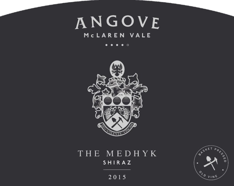 Angove Family Winemakers The Medhyk Shiraz 2015 Front Label