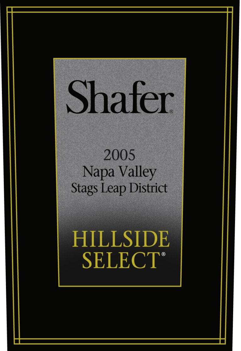 Shafer Hillside Select Cabernet Sauvignon 2005  Front Label