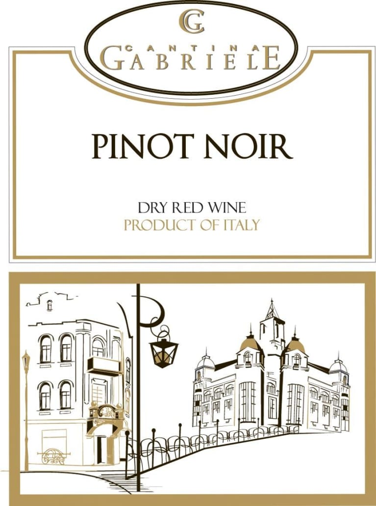 Cantina Gabriele Pinot Noir (OU Kosher) 2017  Front Label