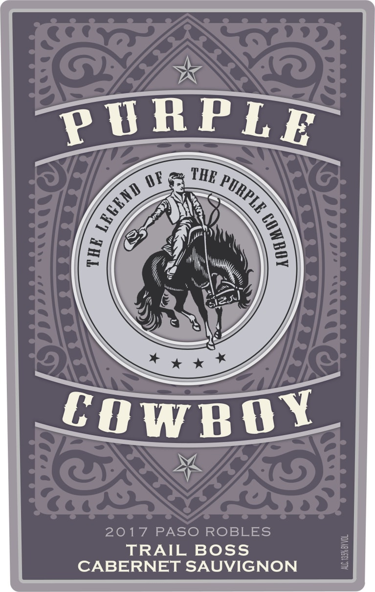 Purple Cowboy Trail Boss Cabernet Sauvignon 2017 Front Label