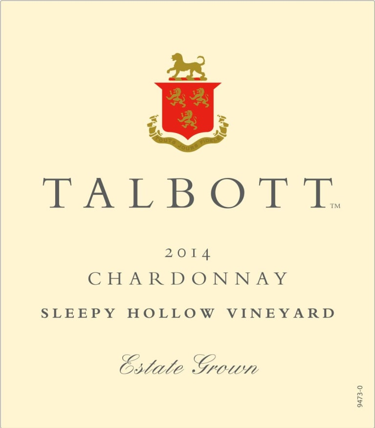 Talbott Sleepy Hollow Chardonnay 2014 Front Label