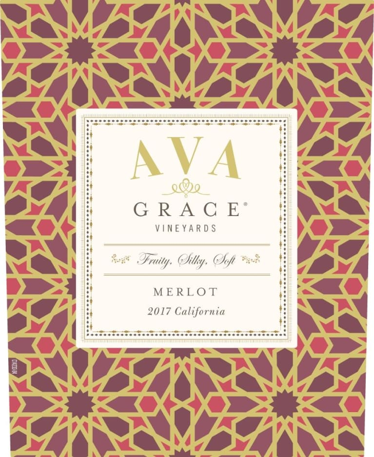 AVA Grace Merlot 2017  Front Label