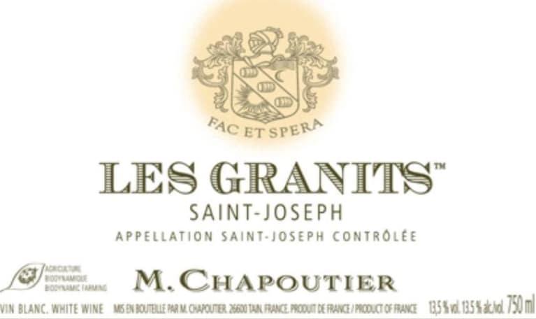 M  Chapoutier Saint-Joseph Les Granits Rouge (3 Liter - torn label) 1995