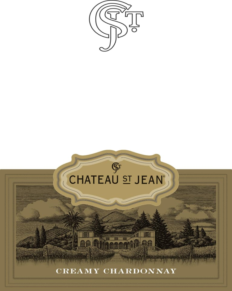 Chateau St. Jean Creamy Chardonnay 2017 Front Label