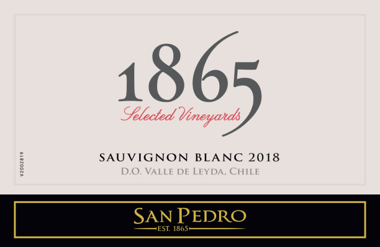 1865 Selected Vineyards Sauvignon Blanc 2018  Front Label