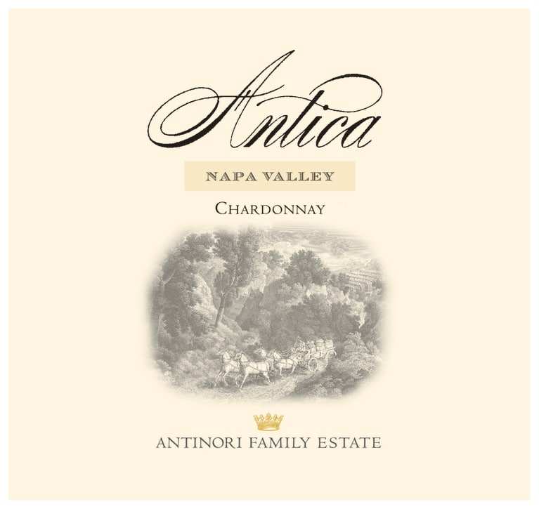 Antica Chardonnay 2015 Front Label