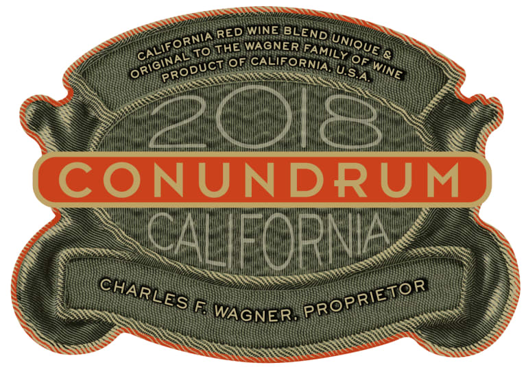 Conundrum Red Blend 2018  Front Label