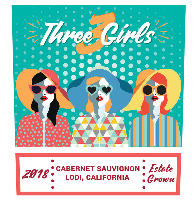 3 Girls The Influencer Cabernet Sauvignon 2018  Front Label