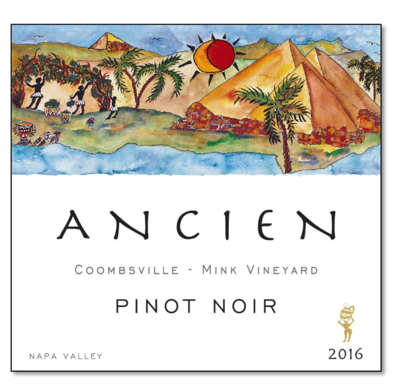 Ancien Wines Mink Vineyard Pinot Noir 2016  Front Label