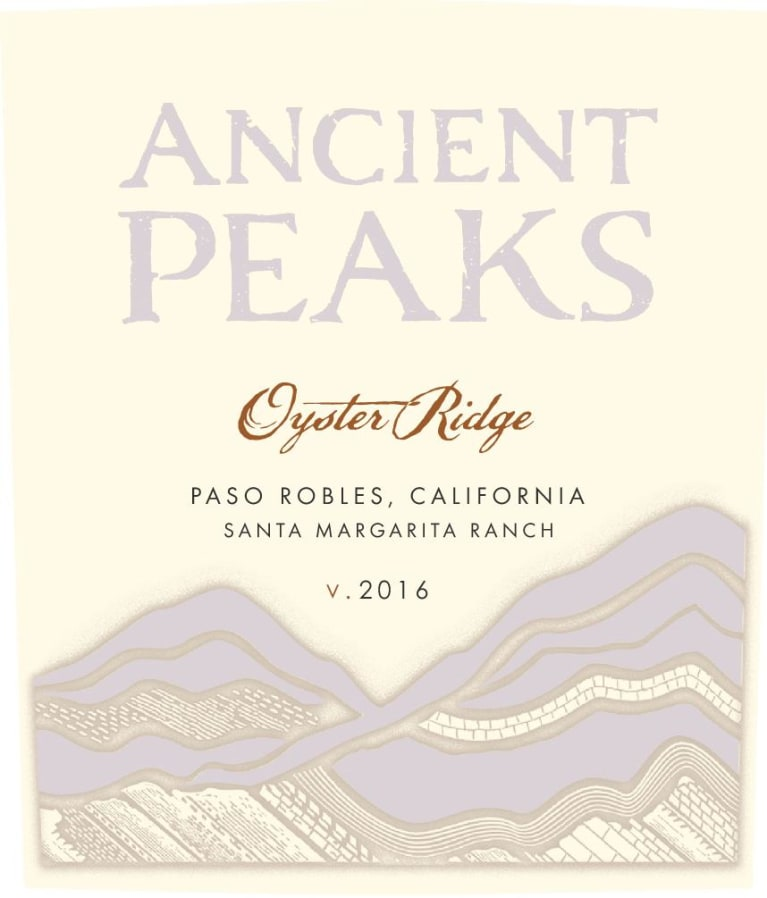 Ancient Peaks Paso Robles Oyster Ridge Red 2016 Front Label