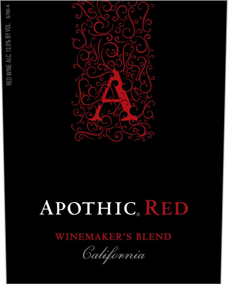 Apothic Red Blend 2017 Front Label