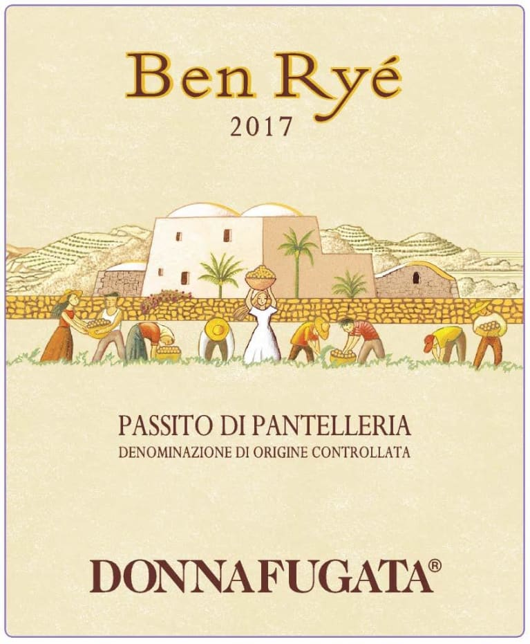 Donnafugata Ben Rye (375ML half-bottle) 2017  Front Label