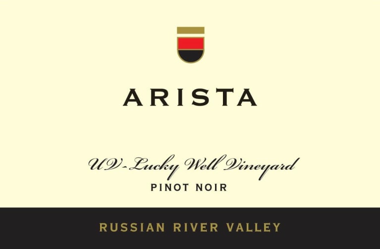 Arista Winery UV Lucky Well Vineyard Pinot Noir 2015  Front Label