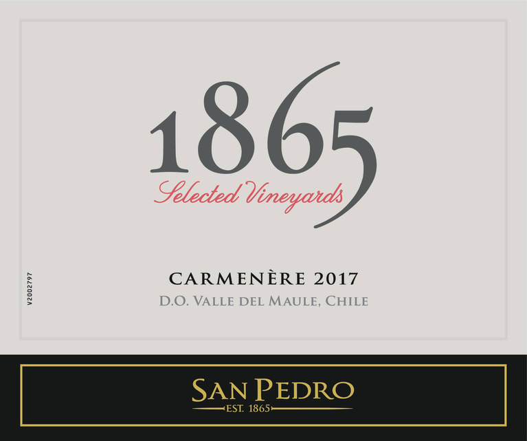 1865 Selected Vineyards Carmenere 2017  Front Label