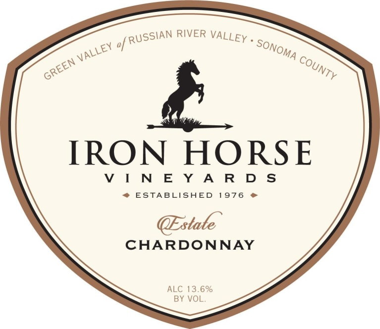 Iron Horse Estate Chardonnay 2015 Front Label