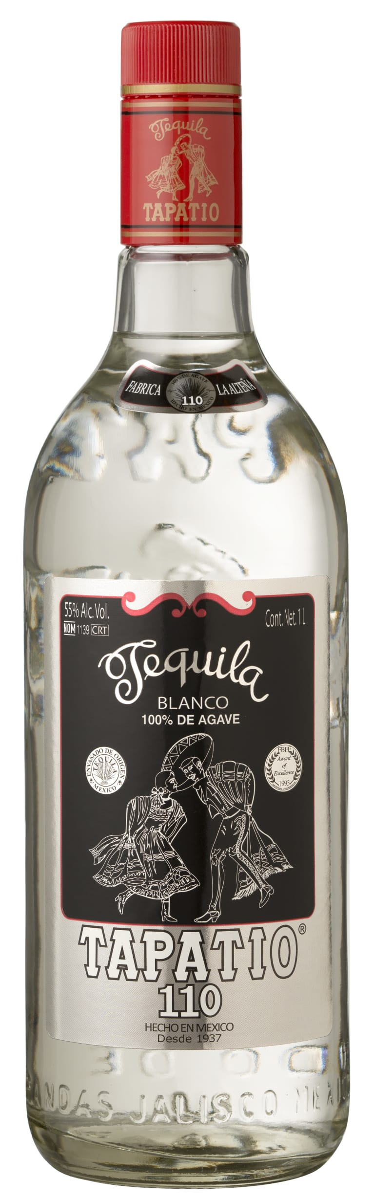 Tapatio Blanco Tequila (1 Liter)  Front Bottle Shot