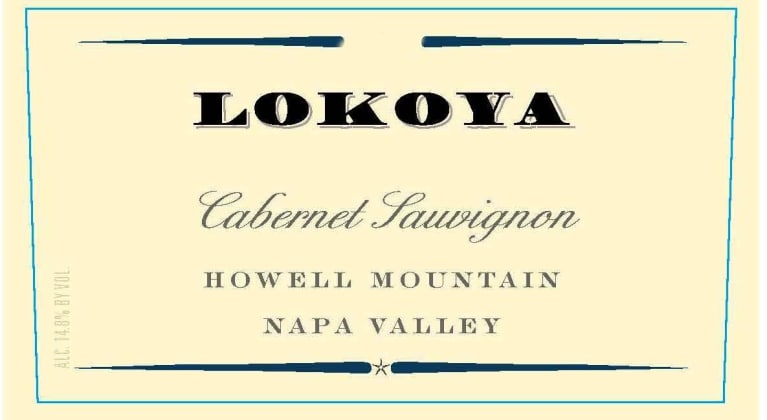 Lokoya Howell Mountain Cabernet Sauvignon 2015 Front Label