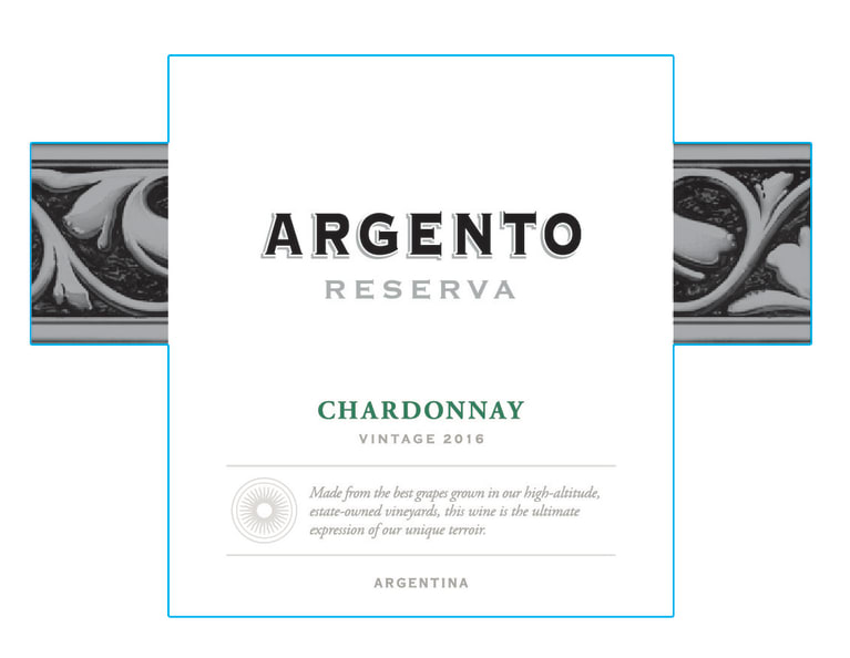 Argento Reserva Chardonnay 2016  Front Label