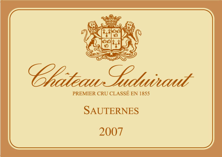 Chateau Suduiraut Sauternes (375ML half-bottle) 2007  Front Label