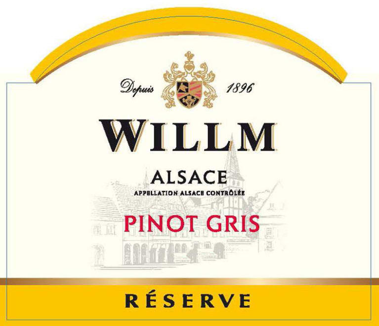 Alsace Willm Pinot Gris Reserve 2018  Front Label